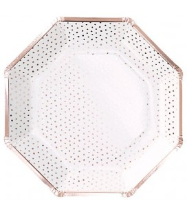 Rose Gold Spotty Plates