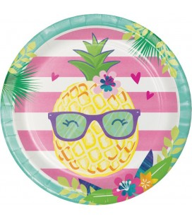 Pineapple Friends Dinner Plates