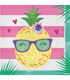 Grandes Serviettes Pineapple Friends