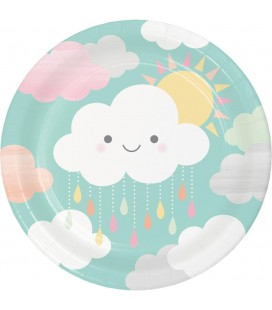 Happy Clouds Dinner Plates