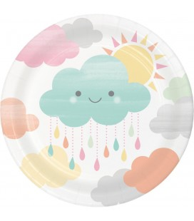 Happy Clouds Luncheon Plates