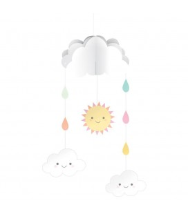 Happy Clouds Hanging Mobile