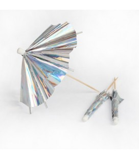 24 Holographic Cocktail Umbrellas