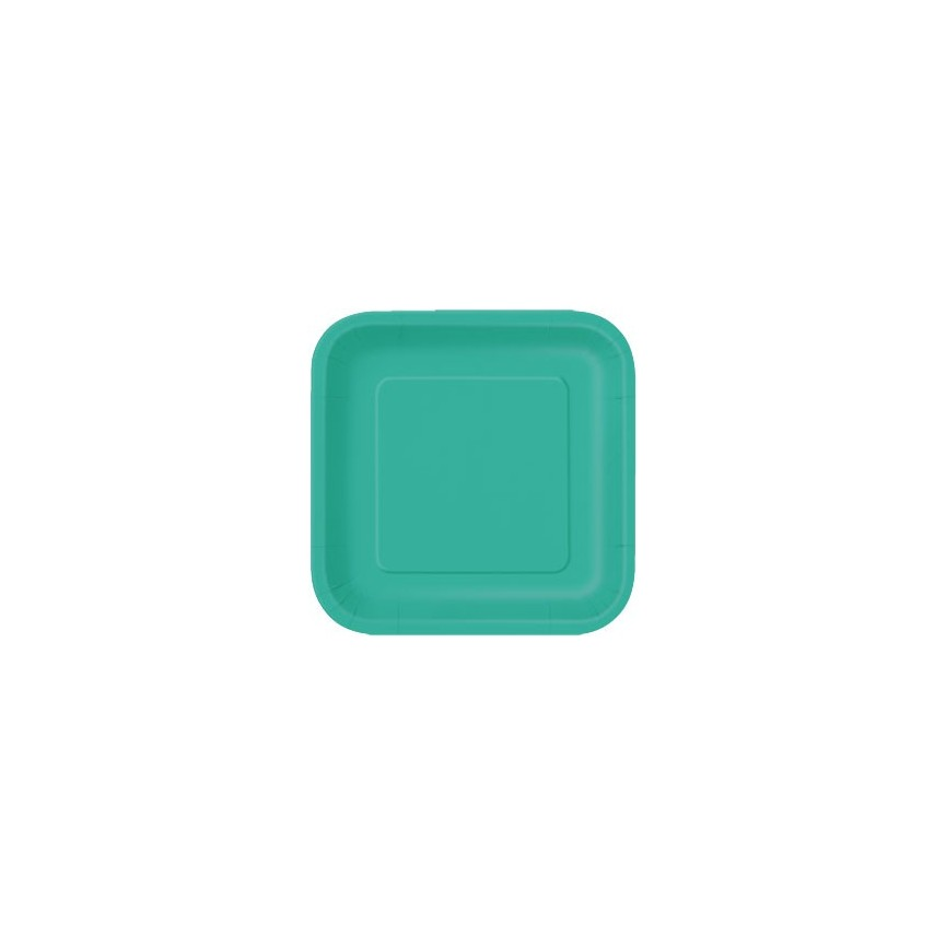 14 Turquoise Dinner Plates