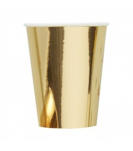 8 Becher Gold