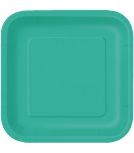 16 Turquoise Small Plates