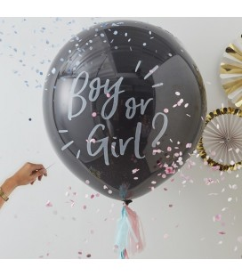 3 Rose Gold Giant Confetti Balloons
