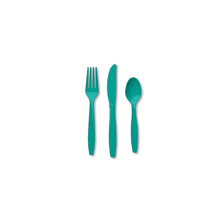 18 Couverts Turquoise