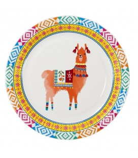 Grandes Assiettes Boho Lama Party