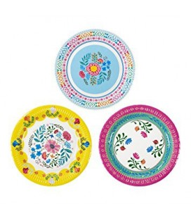Assiettes Boho Lama Party Fleuries