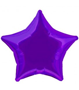 Purple Star Mylar Balloon