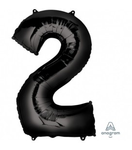 BLACK MYLAR BALLON NUMBER 2