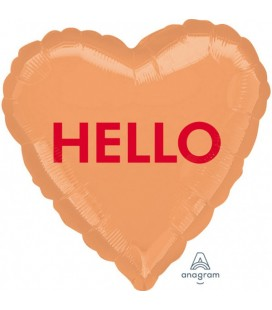 """Hello"" Foil Balloon Heart"