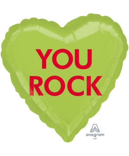 "Ballon Mylar Coeur ""You Rock"""