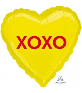 """XOXO "" Foil Balloon Heart"