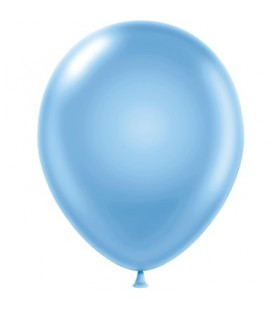 8 Pearlized Sky Blue Balloons