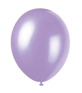8 Pearlized Lovely Lavender Balloons