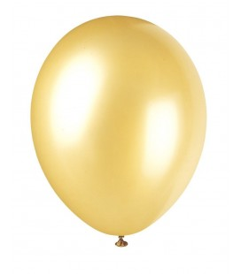 8 Pearlized Gold Champagne Balloons
