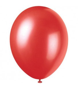 8 Pearlized Flame Red Balloons