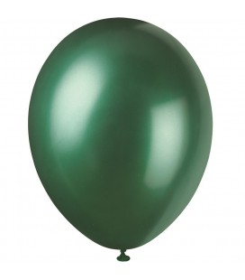 8 Pearlized Evergreen Balloons