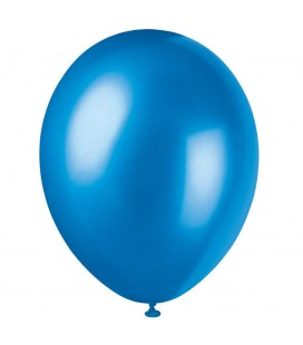 8 Pearlized Cosmic Blue Balloons