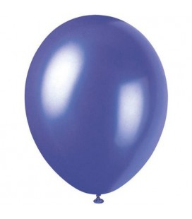 8 Pearlized Electric Purple Balloons