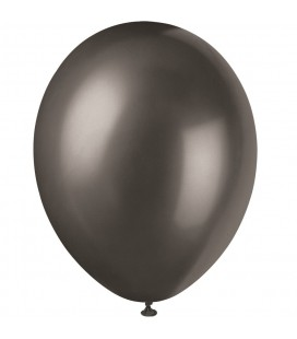 8 Pearlized Ink Black Balloons