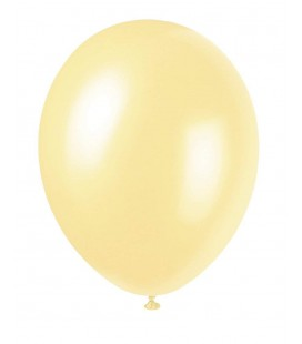 8 Pearlized Ivory Balloons