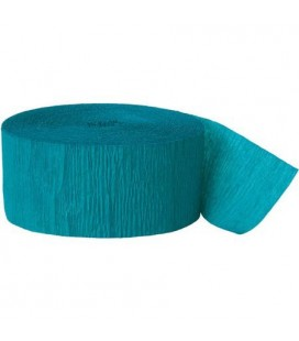 Teal Crepe Streamer