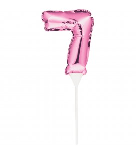 MINI PINK BALLOON NUMBER 8 CAKE TOPPER