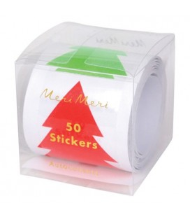Roll of Christmas tree stickers