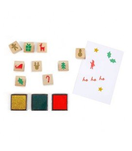 Advent Calendar Festive Stamps