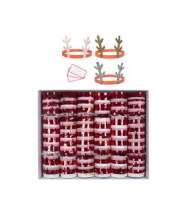 Candy Cane Crackers with Fringes