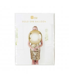 Gold Orb Mylar Balloon