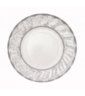 Small Silver Party Porcelain Plates