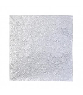 Party Porcelain Silver Embossed Napkins