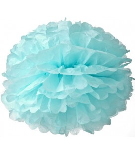 Medium Baby Blue Pom Pom