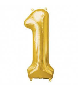 Golden Mylar Ballon Number 1