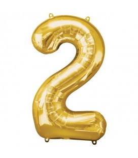 Golden Mylar Ballon Number 2