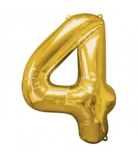 Golden Mylar Ballon Number 4