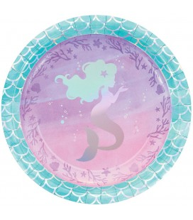 Shimmer Mermaid Party Plates