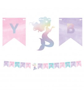 Shimmer Mermaid Happy Birthday Garland