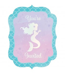 Shimmer Mermaid Invitations
