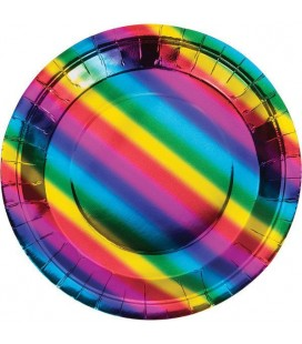 Metallic Rainbow Plates