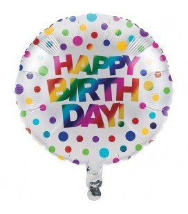 Metallic Rainbow Mylar Balloon