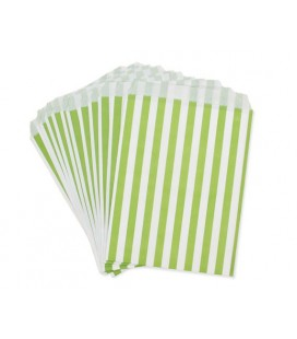 Lime Stripes Treat Bags
