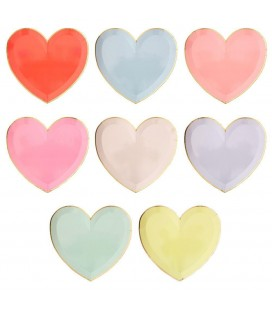 Large Pastel Heart Plates