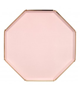Blush Octogonal Large Plates