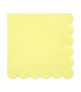 20 Yellow Napkins