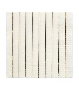 16 Metallic Gold Striped Napkins